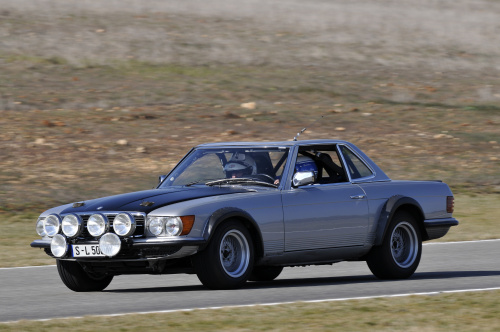 Forgotten mercedes r107 500sl rally for Rally mercedes benz