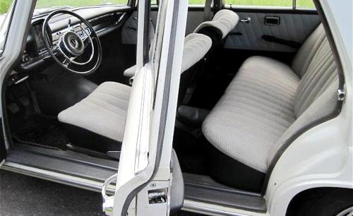 Mercedes 190, 1963, interior, Mercedes 190 D interior